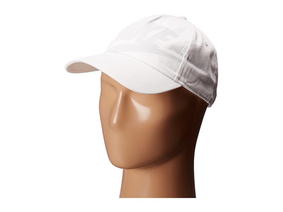 Nike - Heritage86 Adjustable Slide Cap (White/White/White/Pure Platinum) Baseball Caps
