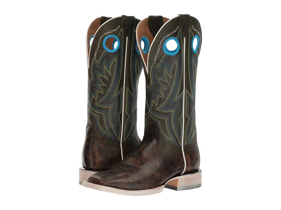 Ariat Circuit Hazer (Antique Buckskin/Rifle Green) Cowboy Boots