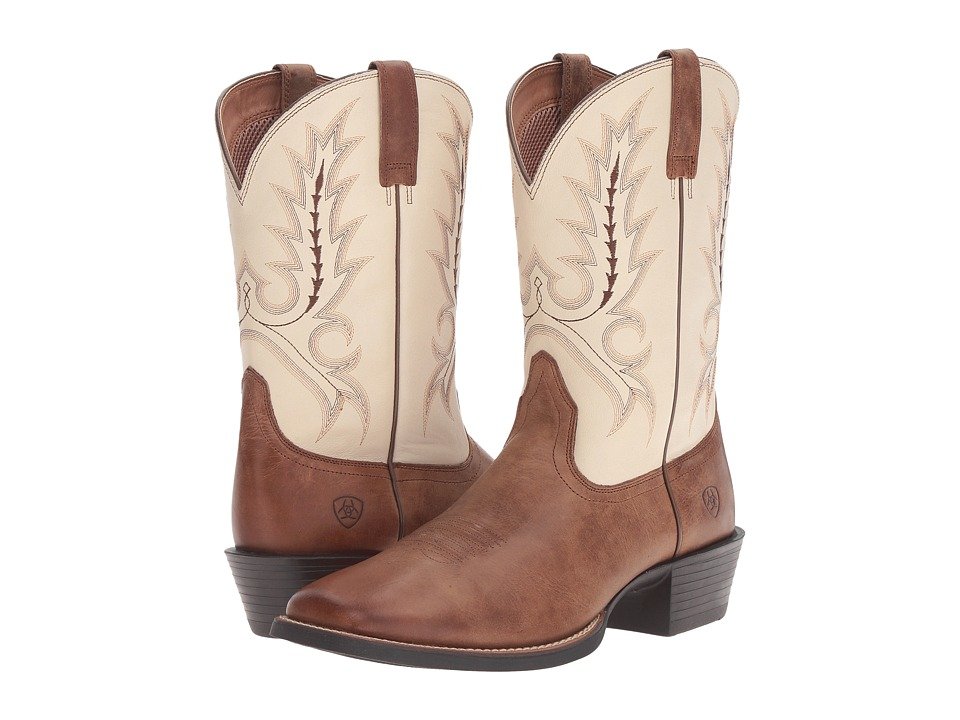 Ariat Sport Outfitter (Burro Brown/Cream) Cowboy Boots