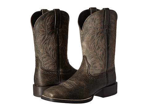 Ariat Sport Western Wide Square Toe - Brooklyn Brown/Ashes