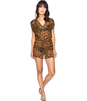 LAUREN Ralph Lauren - Leopard Sheer Tunic Cover-Up
