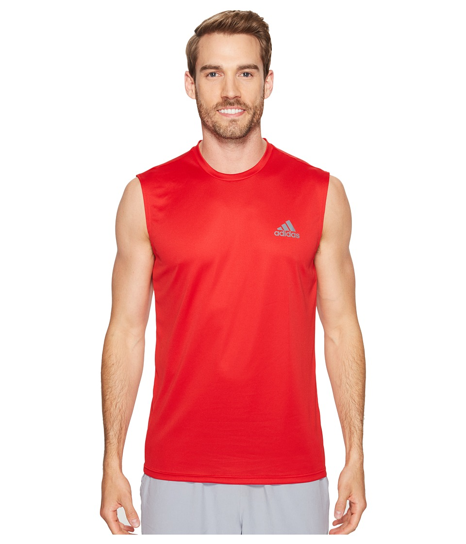 adidas Essentials Tech Sleeveless Tee (Scarlet/Scarlet/Vista Grey) Men