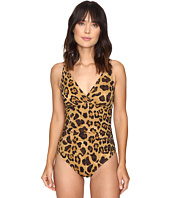 LAUREN Ralph Lauren - Leopard Shirred Underwire Mio One-Piece