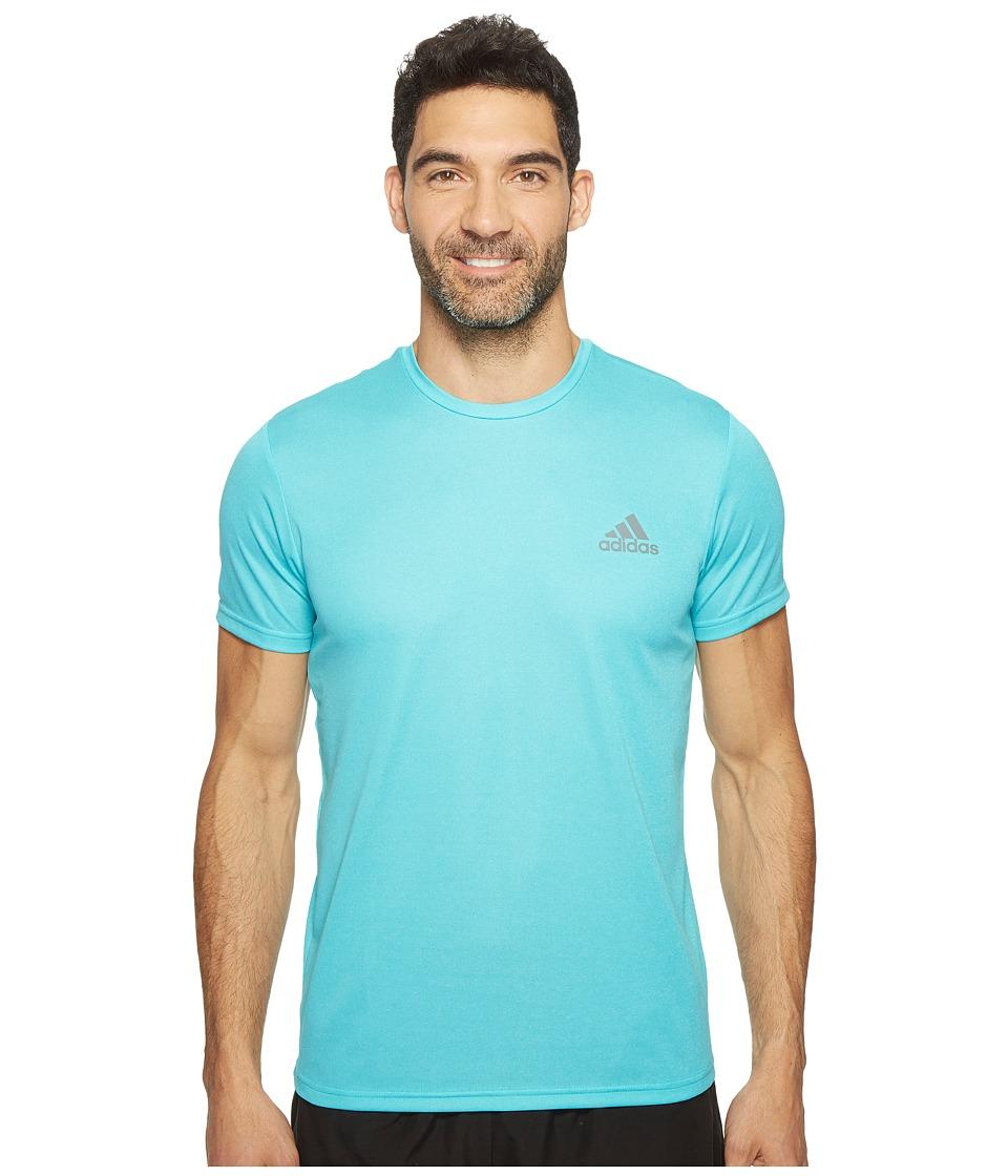 adidas Essential Tech Crew Tee (Energy Blue/Clear Aqua) Men