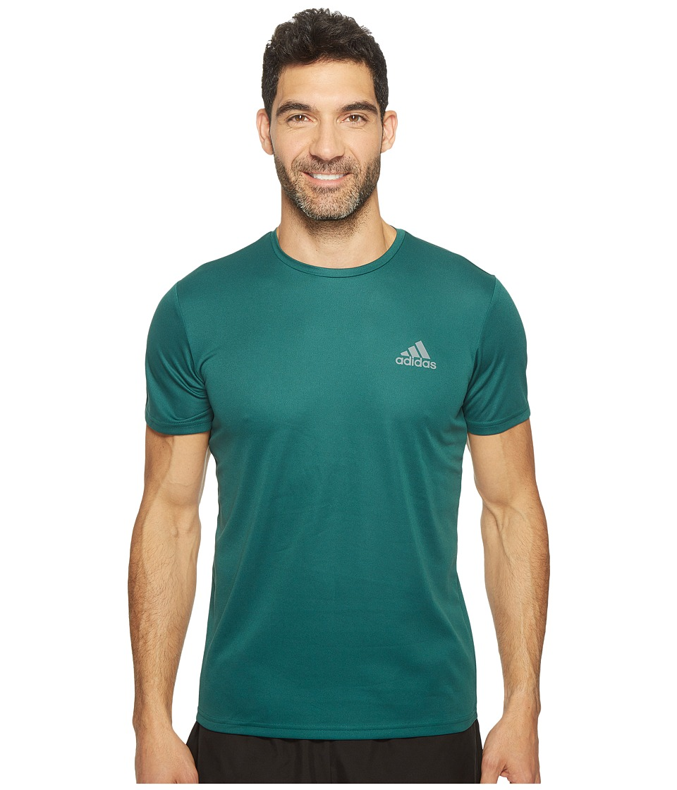 adidas Essential Tech Crew Tee (Mystery Green/Collegiate Green) Men