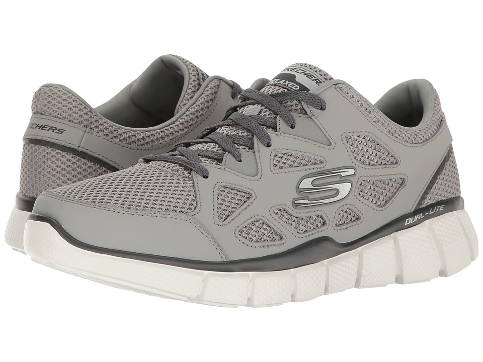 SKECHERS - Equalizer 2.0 - Groy (Gray/Charcoal) Mens  Shoes