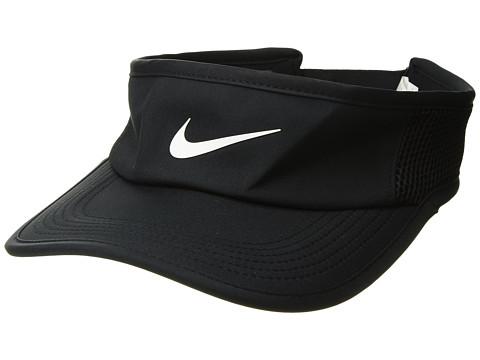 Nike Aerobill Featherlight Visor - Black/Black/White