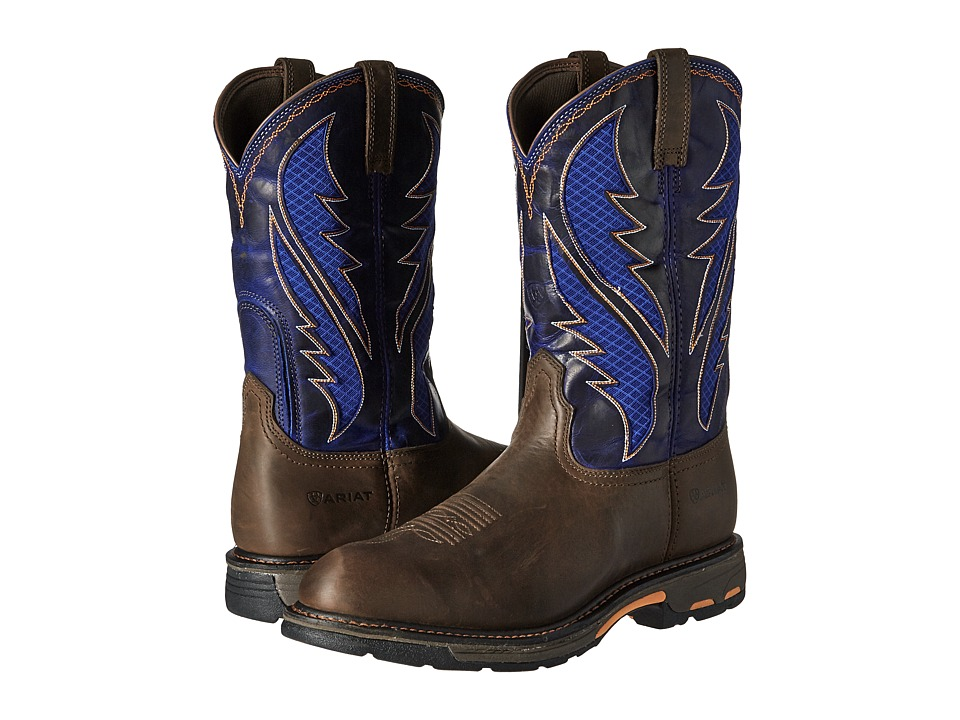 Ariat Workhog Venttek (Oily Distressed Brown/Cobalt) Men