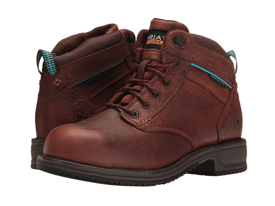 Ariat Casual Work Mid Lace SD CT (Nutty Brown) Women's Work Boots