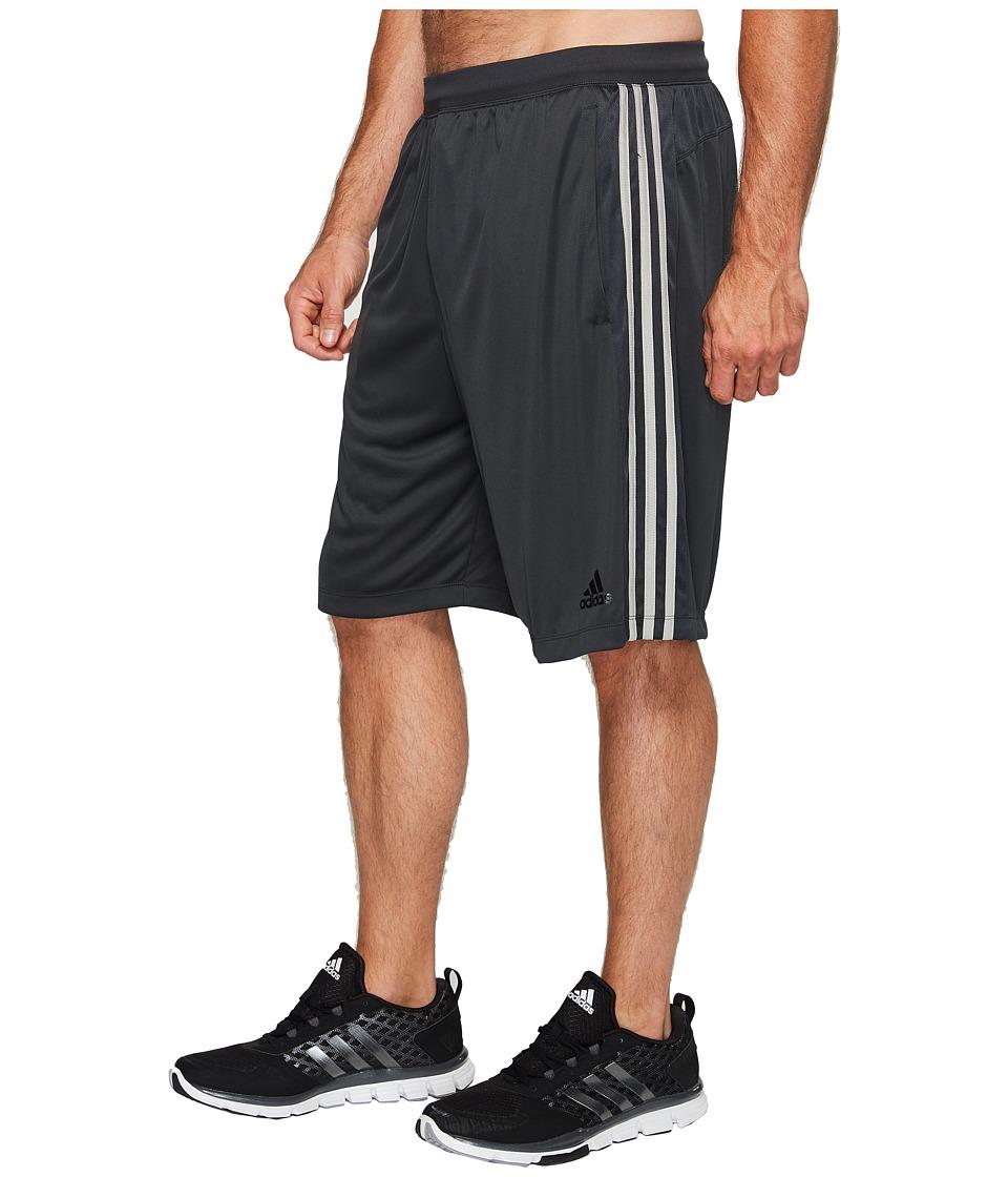 adidas Big Tall Designed-2-Move 3-Stripes Shorts (Dark Grey/Dark Grey/Medium Grey Heather Solid Grey) Men