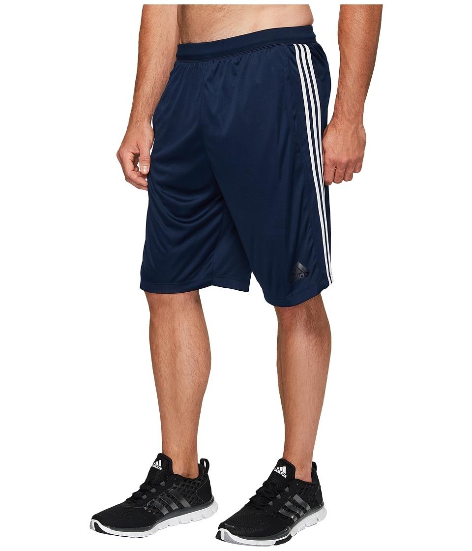adidas Big Tall Designed-2-Move 3-Stripes Shorts (Collegiate Navy/Collegiate Navy/White) Men