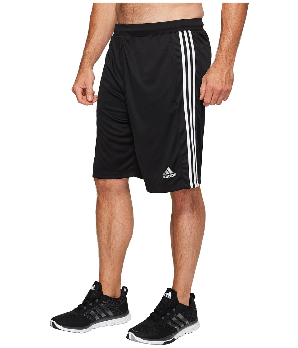 adidas Big Tall Designed-2-Move 3-Stripes Shorts (Black/Black/White) Men