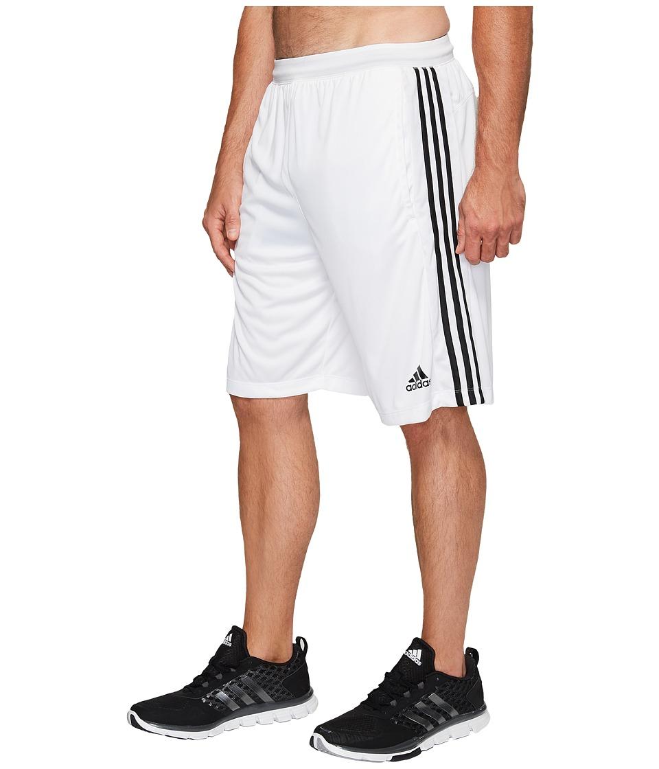 adidas Big Tall Designed-2-Move 3-Stripes Shorts (White/White/Black) Men