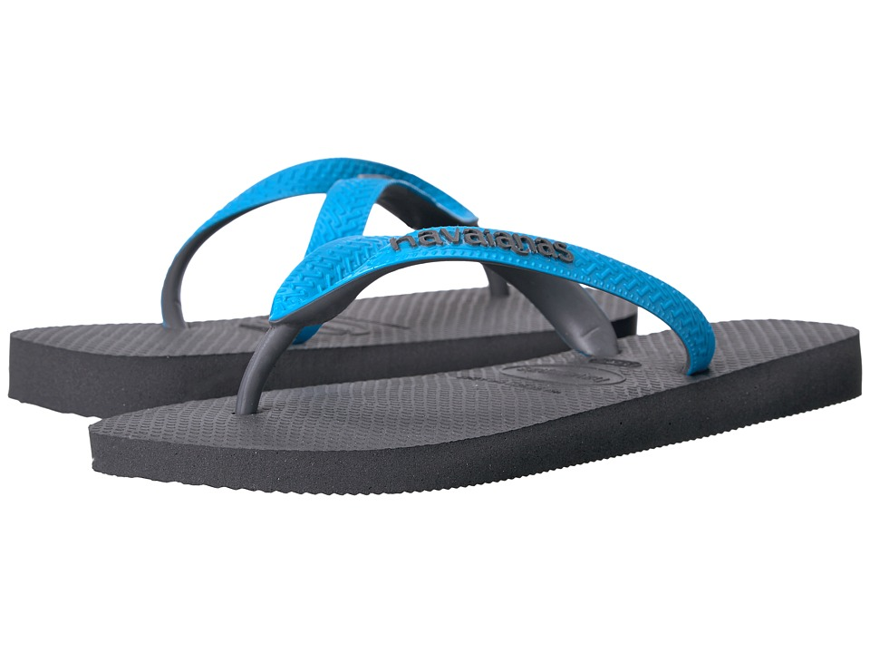 Havaianas Top Mix Flip Flops (Grey/Turquoise) Women