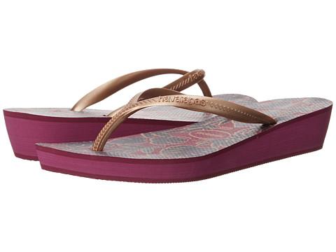 Havaianas High Light II Flip Flops - Pink/Rose Gold