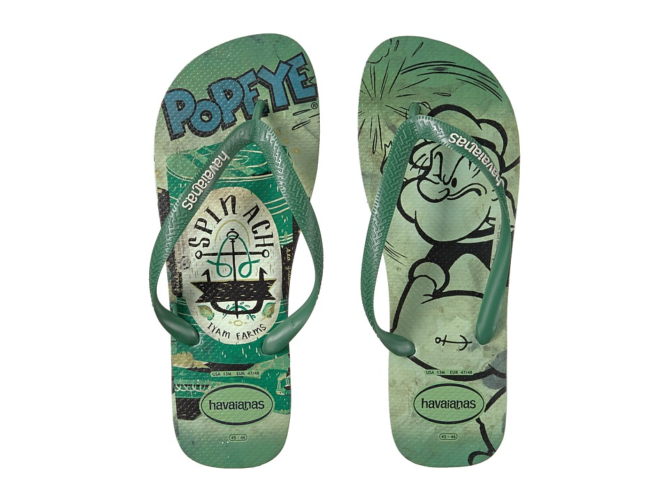 Havaianas Popeye Flip-Flops (Mentha Green) Men