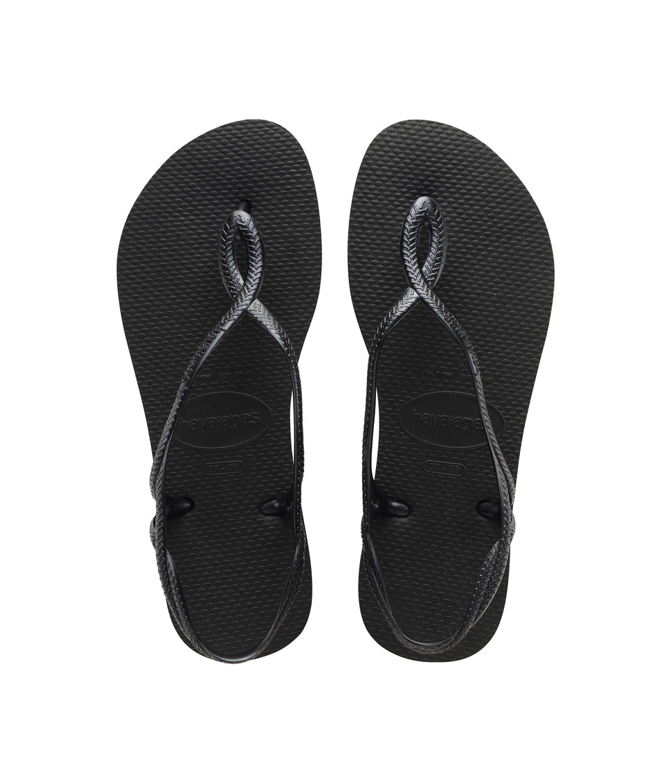 Havaianas - Luna Flip Flops (Black) Womens Sandals