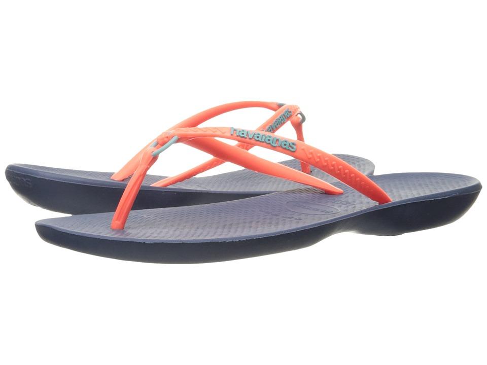 Havaianas Ring Flip Flops (Indigo Blue) Women