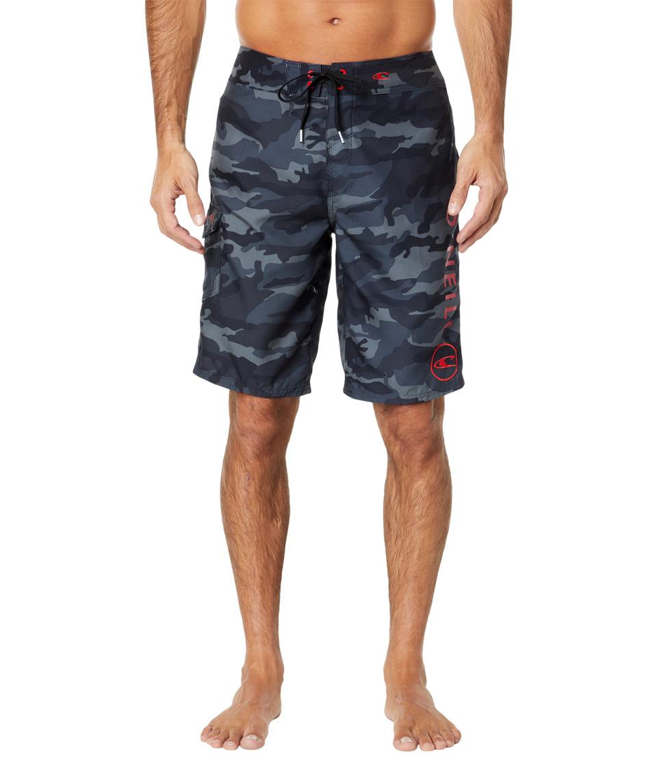 O'Neill Santa Cruz Printed Boardshorts (Black Camo) Men's...