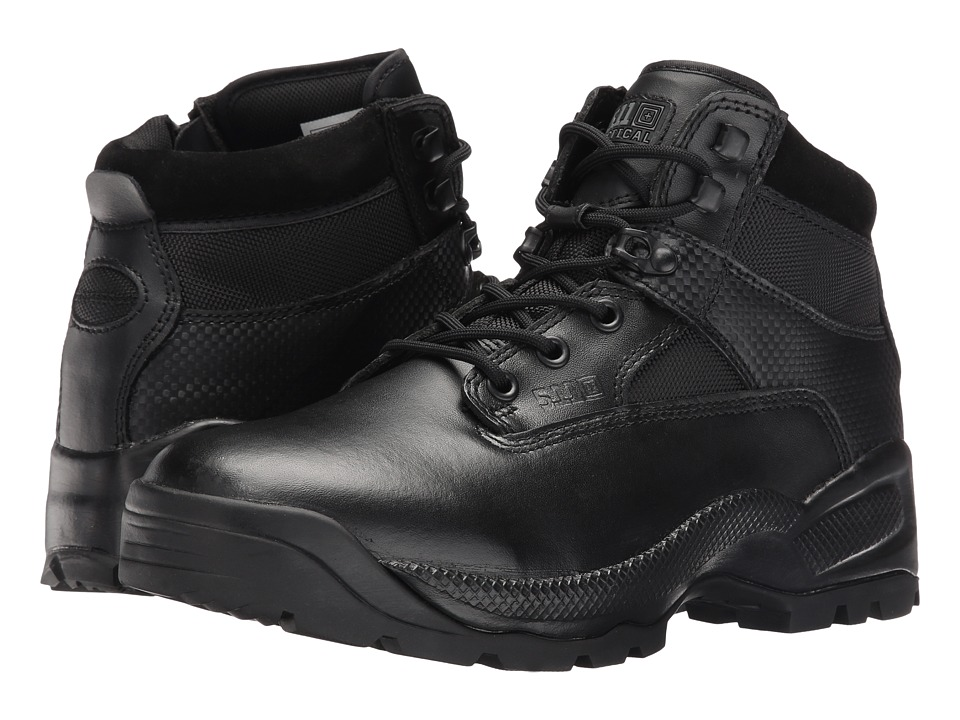 5.11 Tactical - A.T.A.C. 6 Side Zip (Black) Mens Work Boots