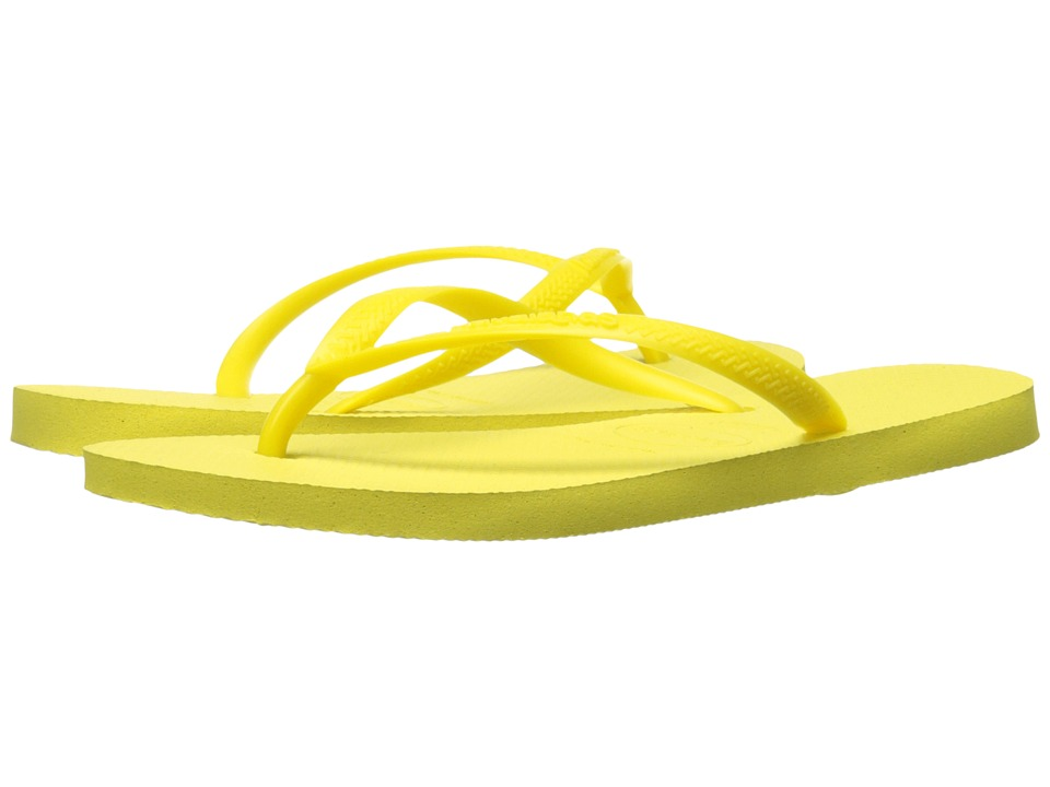 Havaianas Slim Flip Flops (Light Yellow 1) Women