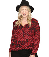 Lucky Brand - Plus Size Floral Peasant Blouse