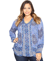 Lucky Brand - Plus Size Cut Out Blouse