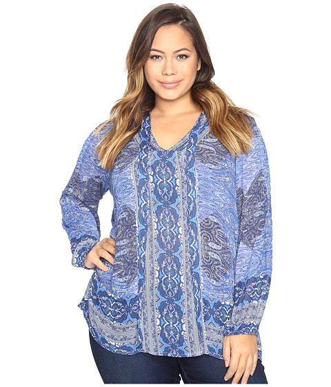Lucky Brand Plus Size Cut Out Blouse