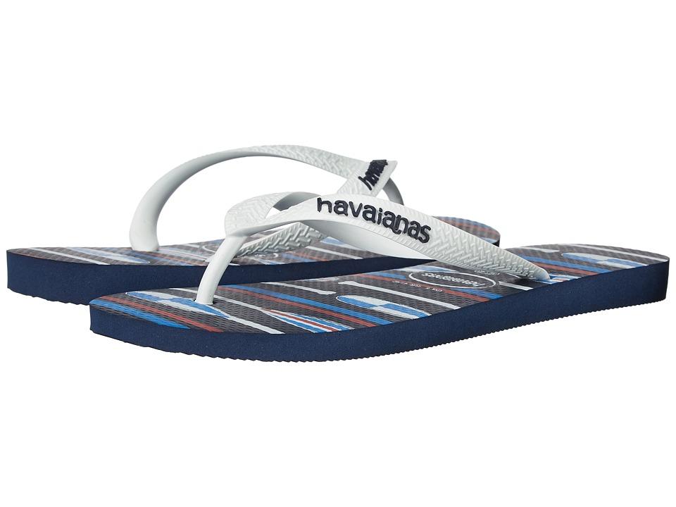 Havaianas Top Nautical Flip-Flops (Navy Blue/White) Men