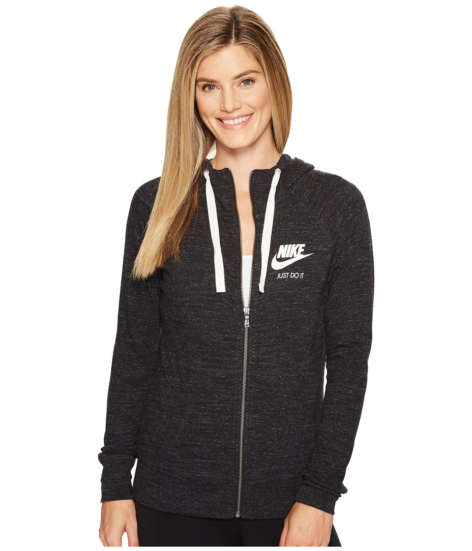 Nike Sportswear Full-Zip Hoodie (Black/Sail) Women