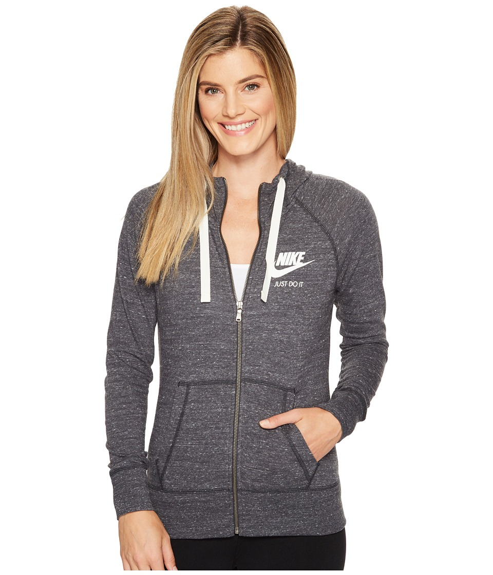 Nike Sportswear Full-Zip Hoodie (Anthracite/Sail) Women