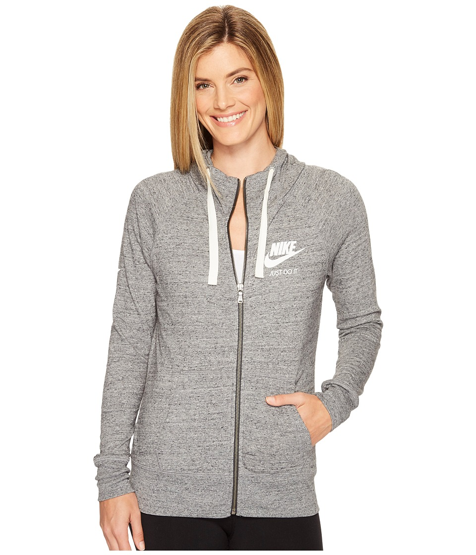 Nike Sportswear Full-Zip Hoodie (Carbon Heather/Sail) Women