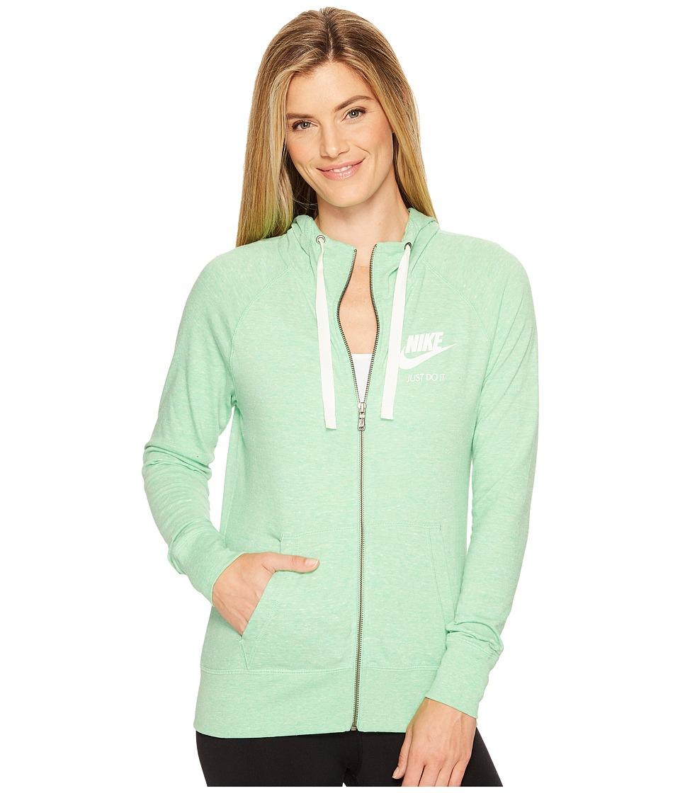 Nike Sportswear Full-Zip Hoodie (Tourmaline/Sail) Women