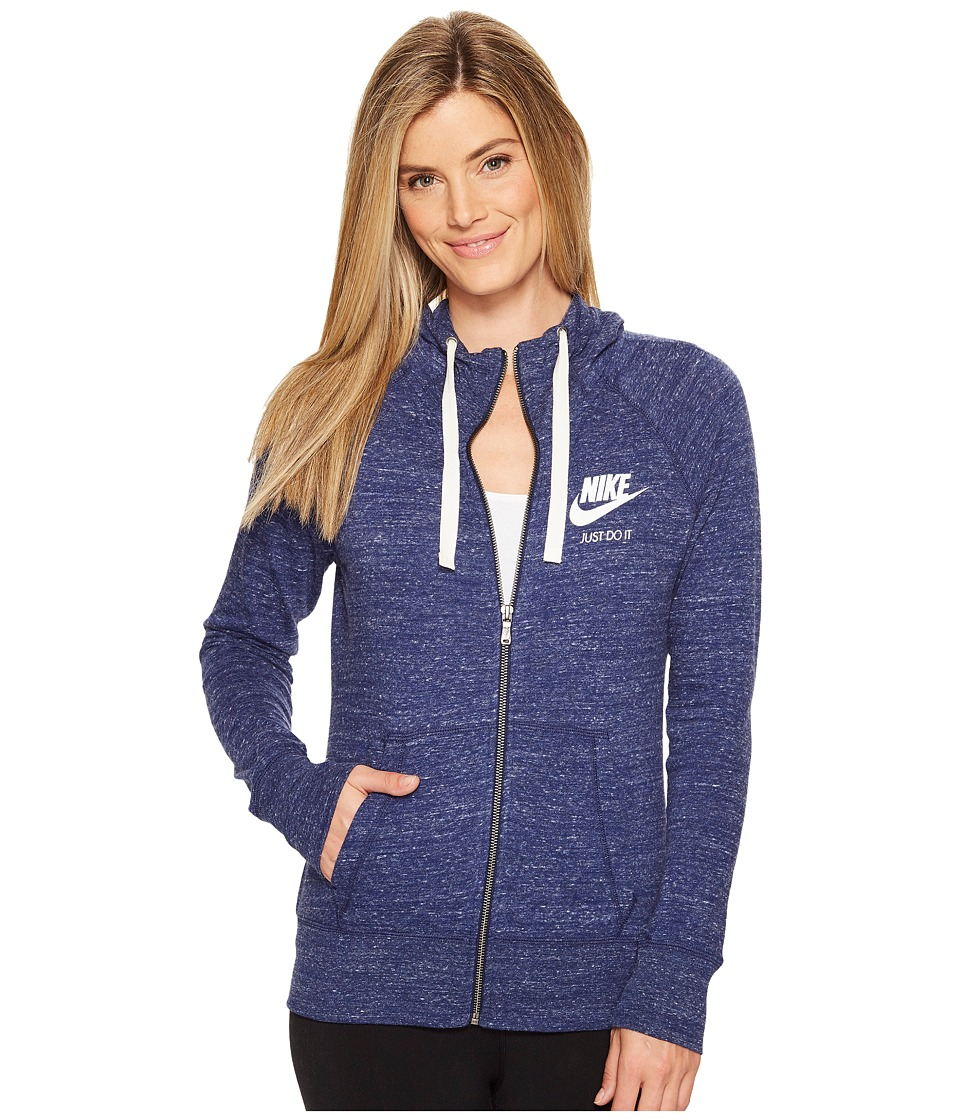 Nike Sportswear Full-Zip Hoodie (Binary Blue/Sail) Women