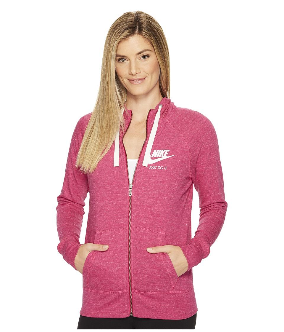 Nike Sportswear Full-Zip Hoodie (Sport Fuchsia/Sail) Women
