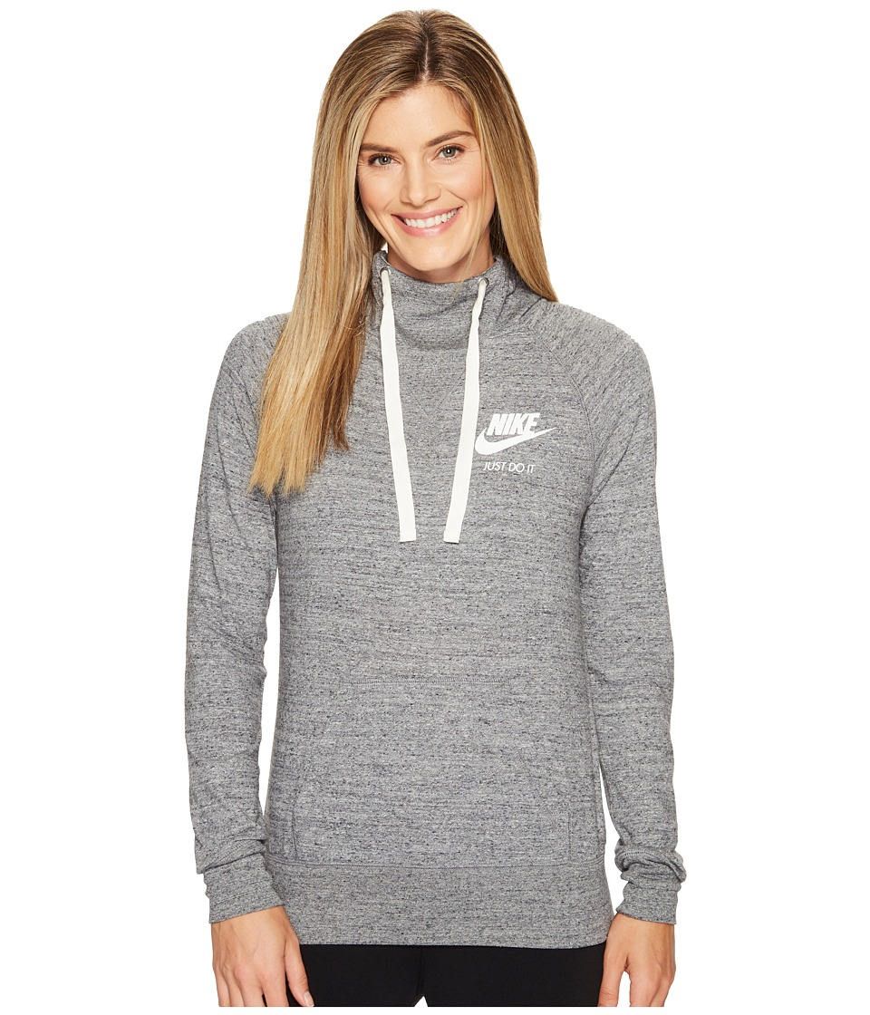 Nike Sportswear Pullover Hoodie (Carbon Heather/Sail) Women