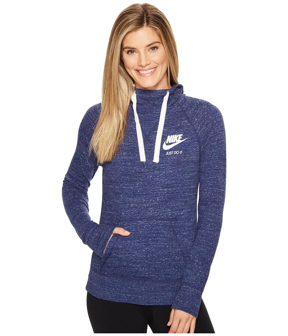 Nike Sportswear Pullover Hoodie (Binary Blue/Sail) Women