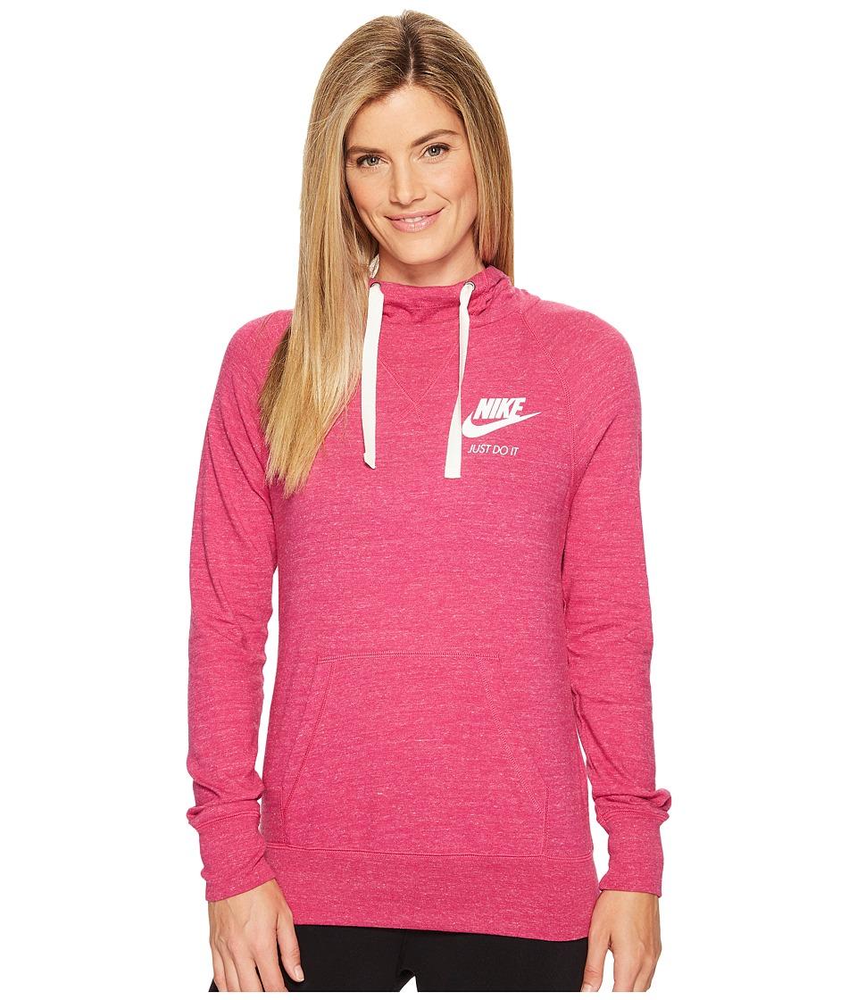 Nike Sportswear Pullover Hoodie (Sport Fuchsia/Sail) Women