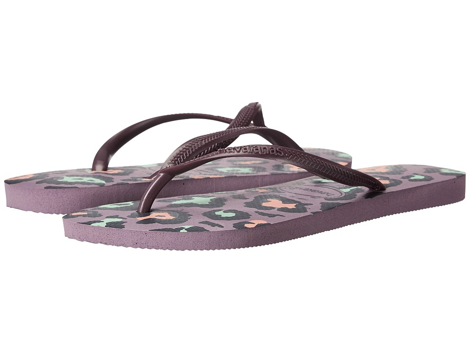 Havaianas Slim Animals Flip Flops (Petunia) Sandals