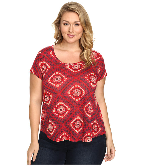 Lucky Brand Plus Size Tile Tee
