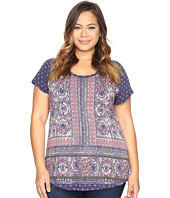 Lucky Brand - Plus Size Painted Border Tee