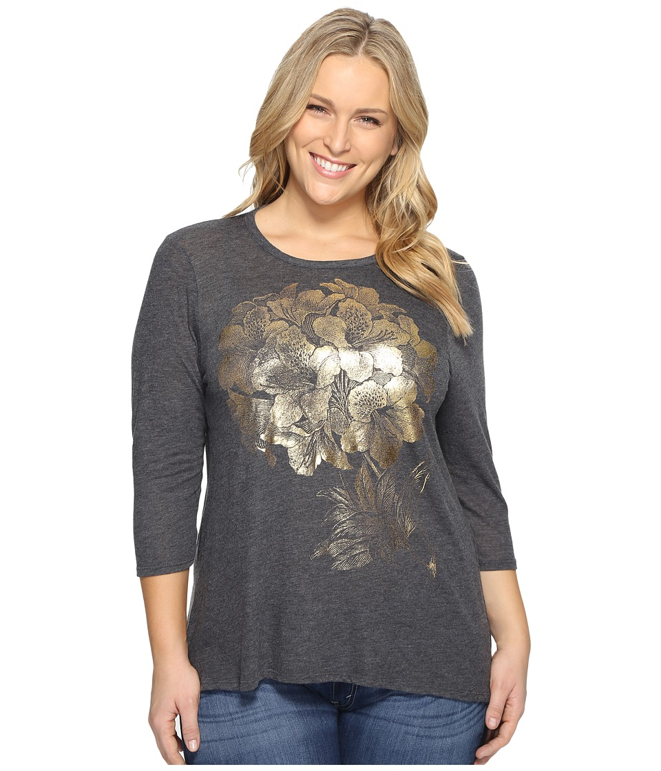 Lucky Brand Plus Size Gold Azalea Tee (Black Beauty) Women
