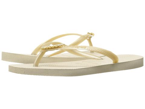 Havaianas Slim Lux Flip Flops - Beige