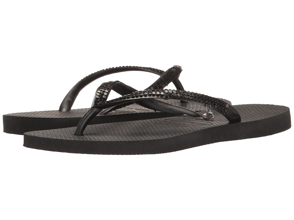 Havaianas Slim Metal Mesh Flip Flops (Dark Grey 1) Women