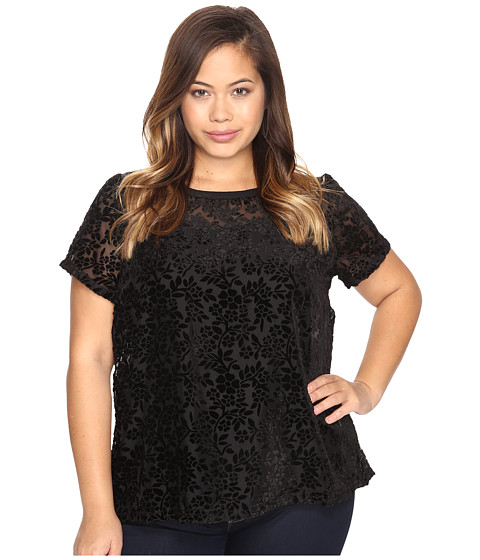 Lucky Brand Plus Size Burnt Out Top