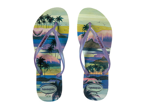 Havaianas Slim Paisage Flip Flops - Mentha Green