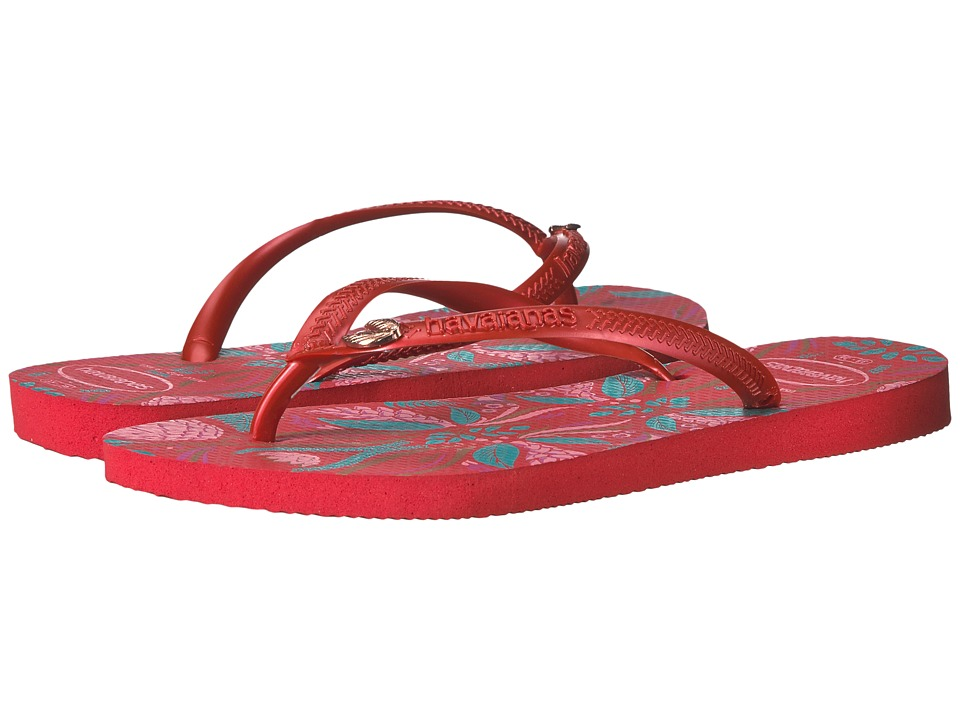 Havaianas Slim Royal Flip Flops (Ruby Red) Women