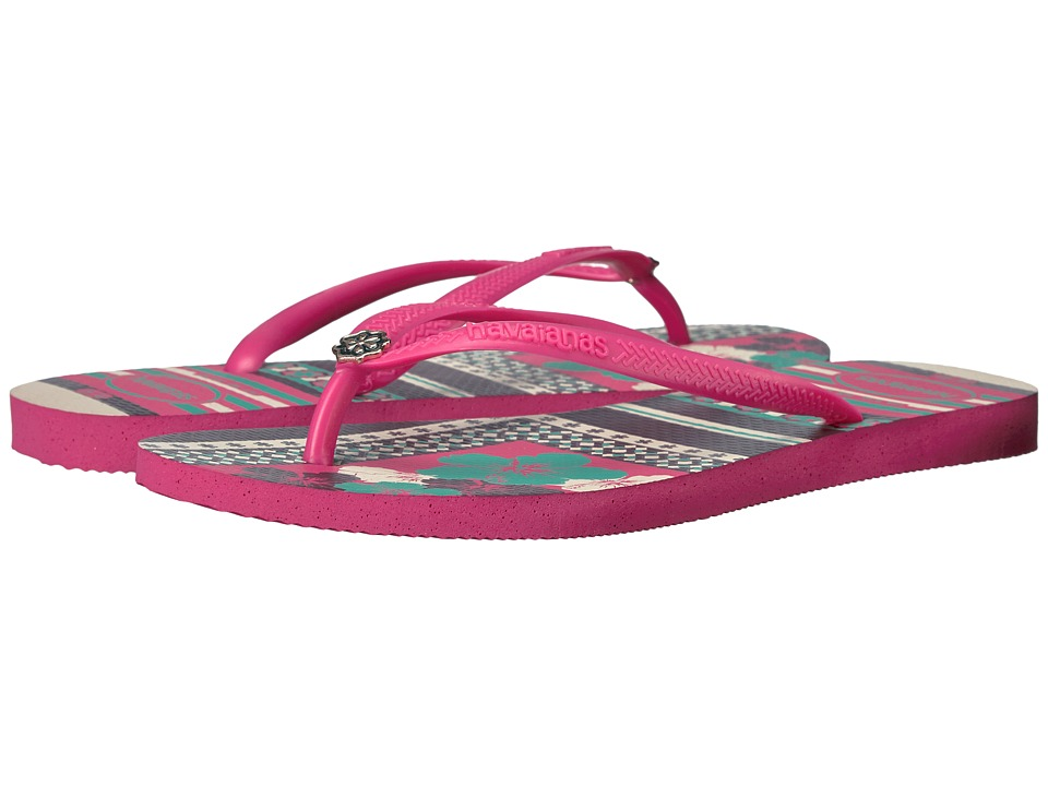 Havaianas Slim Thematic Flip Flops (Orchid Rose) Women