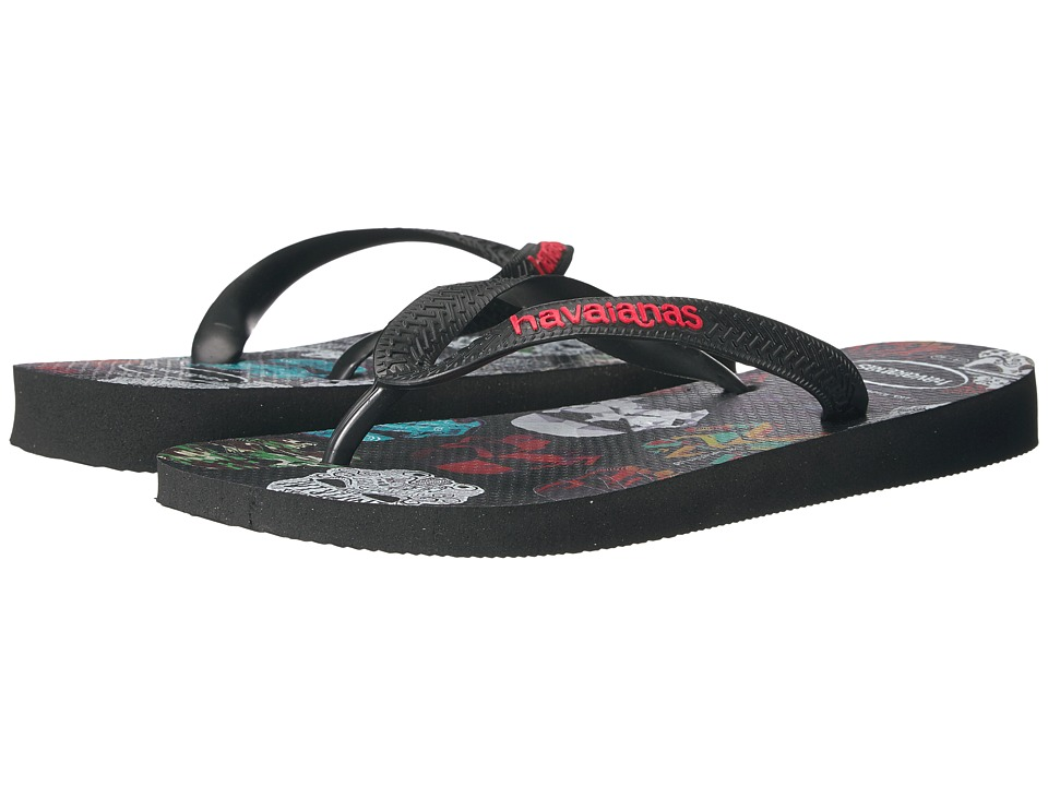 Havaianas Star Wars Flip-Flops (Black/Black/Red) Women