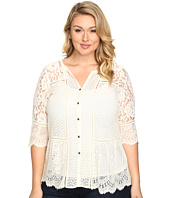 Lucky Brand - Plus Size Lace Mix Top